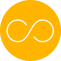 Gold Icon of     an Infinity Symbol