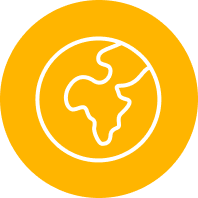 Gold Icon of         Globe