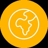 Gold Icon of         Globe